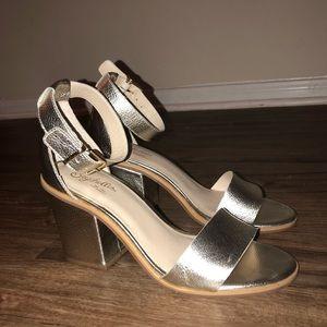 Silver Ankle Strap Sandal